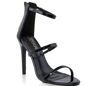 NEW ✨Beautiful Black Stiletto Heels Sandals